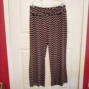 Robert Louis chevron palazzo pants XL